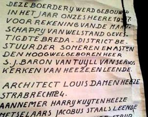 Document uit 1937 in loden koker Someren - Deurne-Asten-Someren - Regio - ED - G_2012-02-28_13-19-21