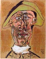 picasso_tête_d'arlequin_1971