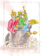 'Pauselijke prullenmand' 3 Koningen