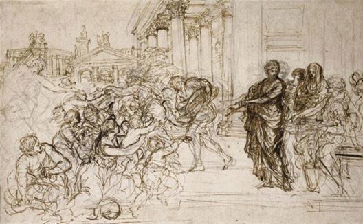 Saint-Cecilia-Giving-Alms-t